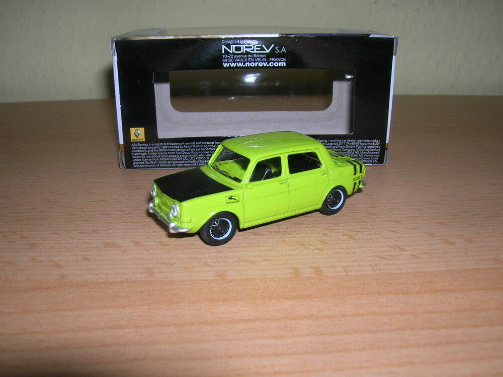 norev retro simca rallye rally gr n green 1 64 3 inch ebay. Black Bedroom Furniture Sets. Home Design Ideas