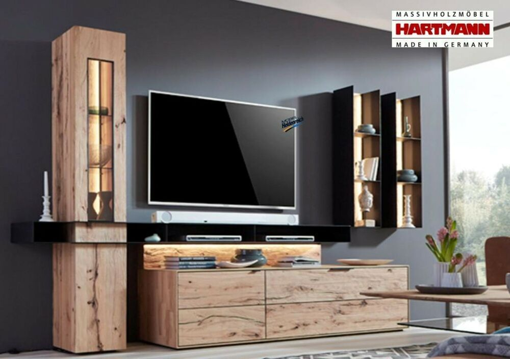 wohnwand anbauwand hartmann riffbuche buche massiv talis kombi nr 22 neu ebay. Black Bedroom Furniture Sets. Home Design Ideas