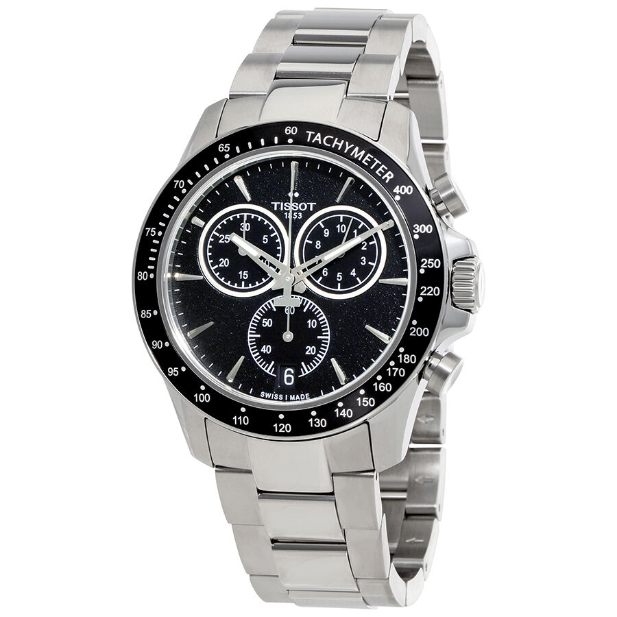 Tissot T-Sport V8 Black Dial Chronograph Mens Watch ...