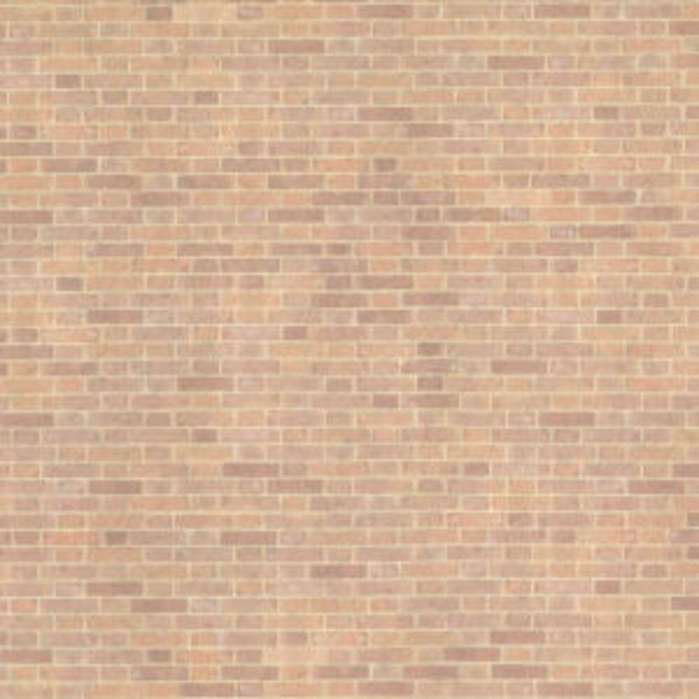 Dolls house old red brick paper miniature print 1 24 scale for House wallpaper paper