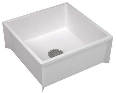 Mustee Mop Sink Durastone R White Bowl Size 24 Quot X 36