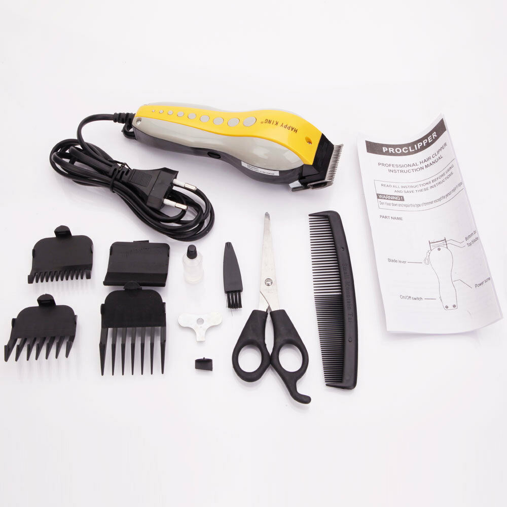 electric men 39 s hair clipper cutting kit recharge trimmer grooming shaver. Black Bedroom Furniture Sets. Home Design Ideas