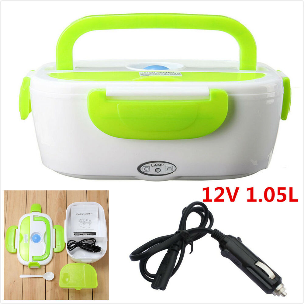 Portable Food Warmer Box ~ V portable electric heated outdoor travel car food
