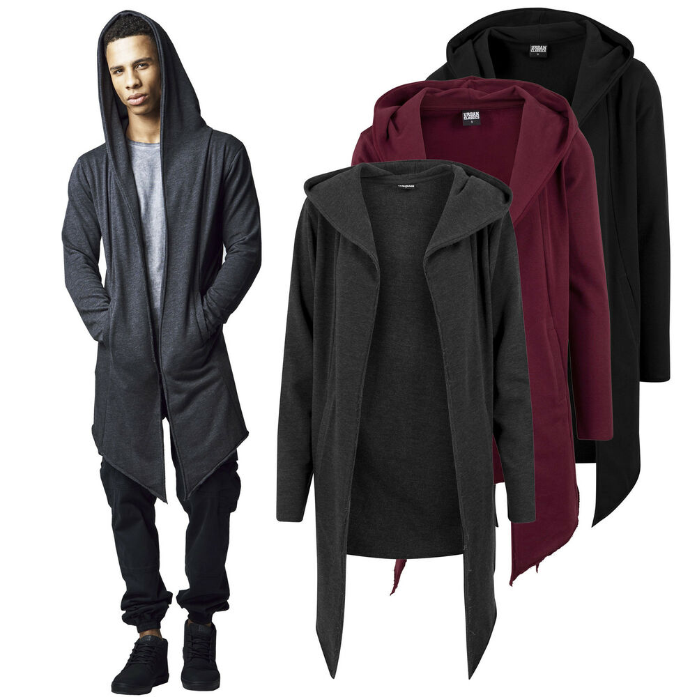 urban classics herren oversize sweatshirt cardigan jacke mantel pullover tb1389 ebay. Black Bedroom Furniture Sets. Home Design Ideas
