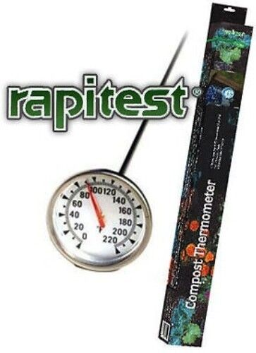 Dial soil compost thermometer temperature gauge rapitest for Soil thermometer