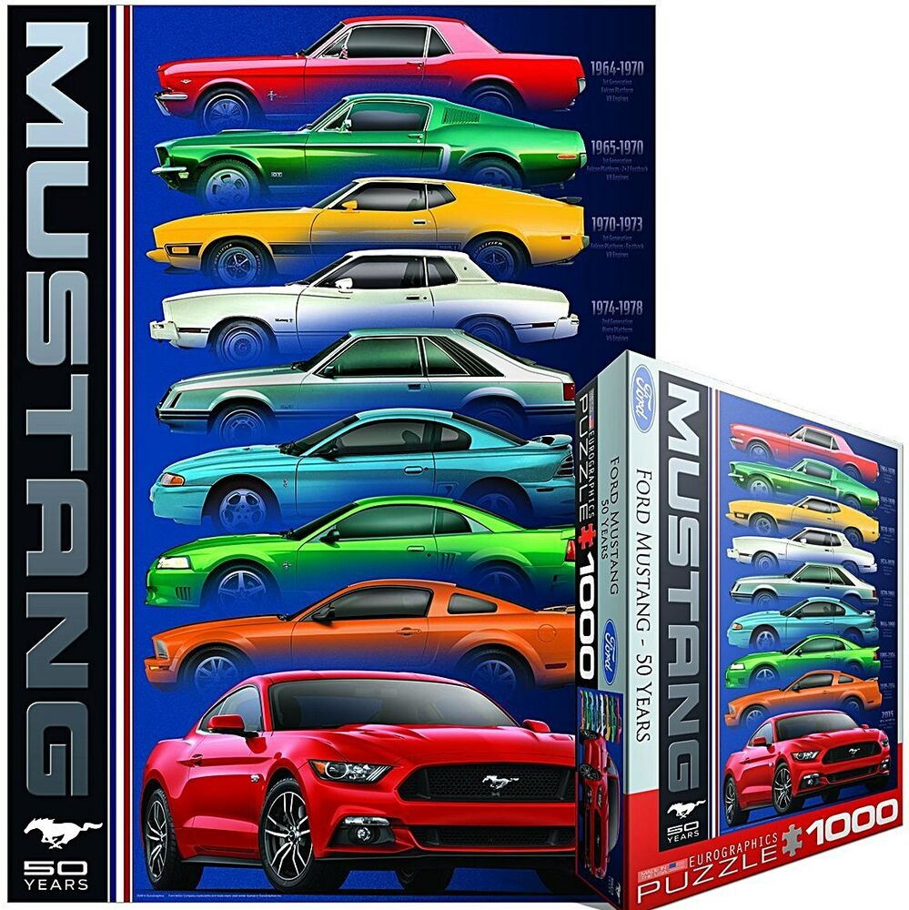 Ford mustang 50 years 9 types 1000 piece jigsaw puzzle 68mm x 49mm pz ebay