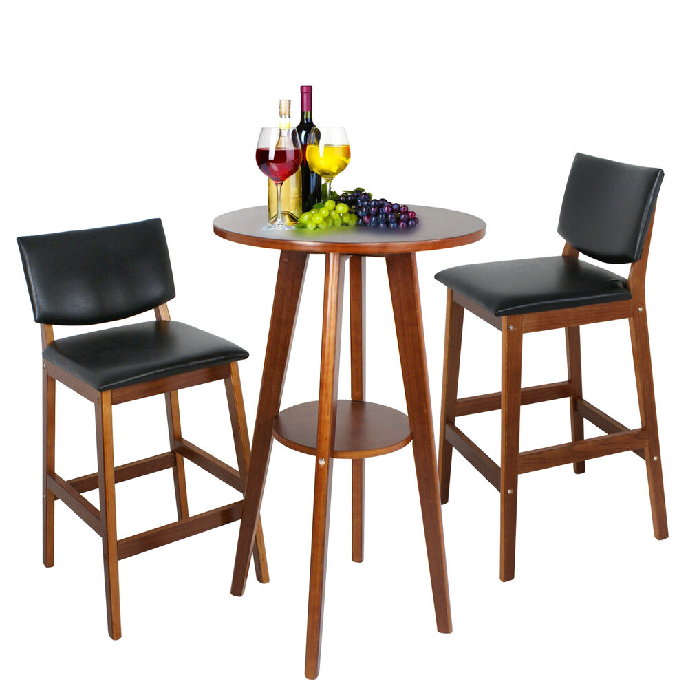 2 barstools 3 pcs bistro dining set table kitchen for Furniture kitchen set