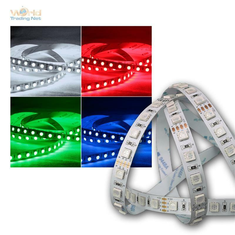 11 94 m 5m led bandeau lumineux 80 smd m rgb 450lm m 12v 7 6w m ebay. Black Bedroom Furniture Sets. Home Design Ideas