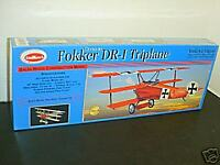 Guillows #204 Fokker Triplane laser cut Balsa wood Airplane model Kit New in box