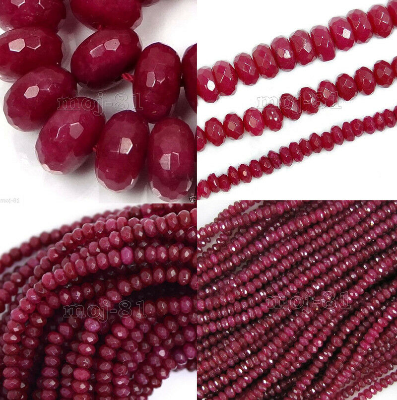 AAA Genuine Natural Faceted Brazil Red Ruby Gemstone ... - photo #17
