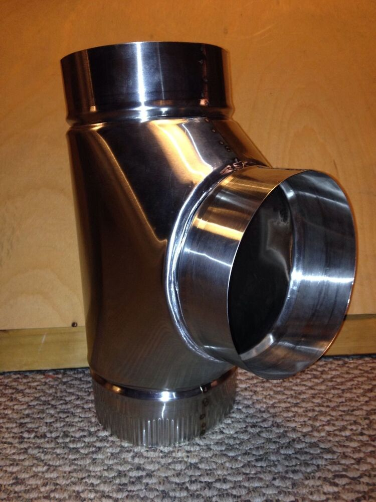 Inch stove pipe stainless steel clean out tee made in