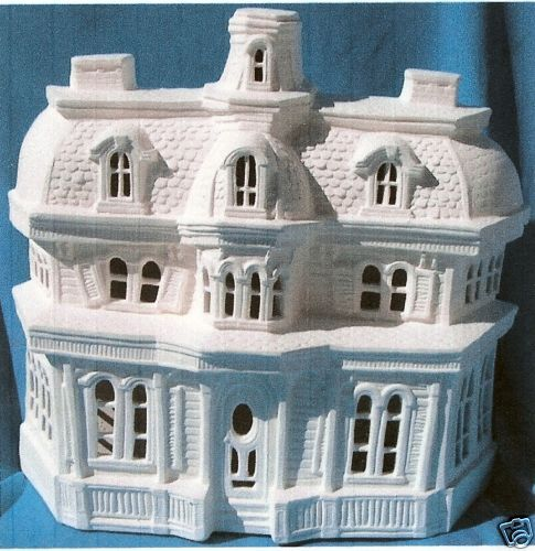 Haunted old house ceramic bisque halloween u paint ebay for Ceramic house paint
