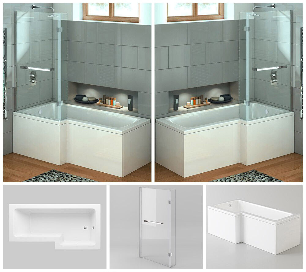 badewanne badewannenaufsatz wanne duschwand duschabtrennung 2in1 echtglas 170x85 ebay. Black Bedroom Furniture Sets. Home Design Ideas