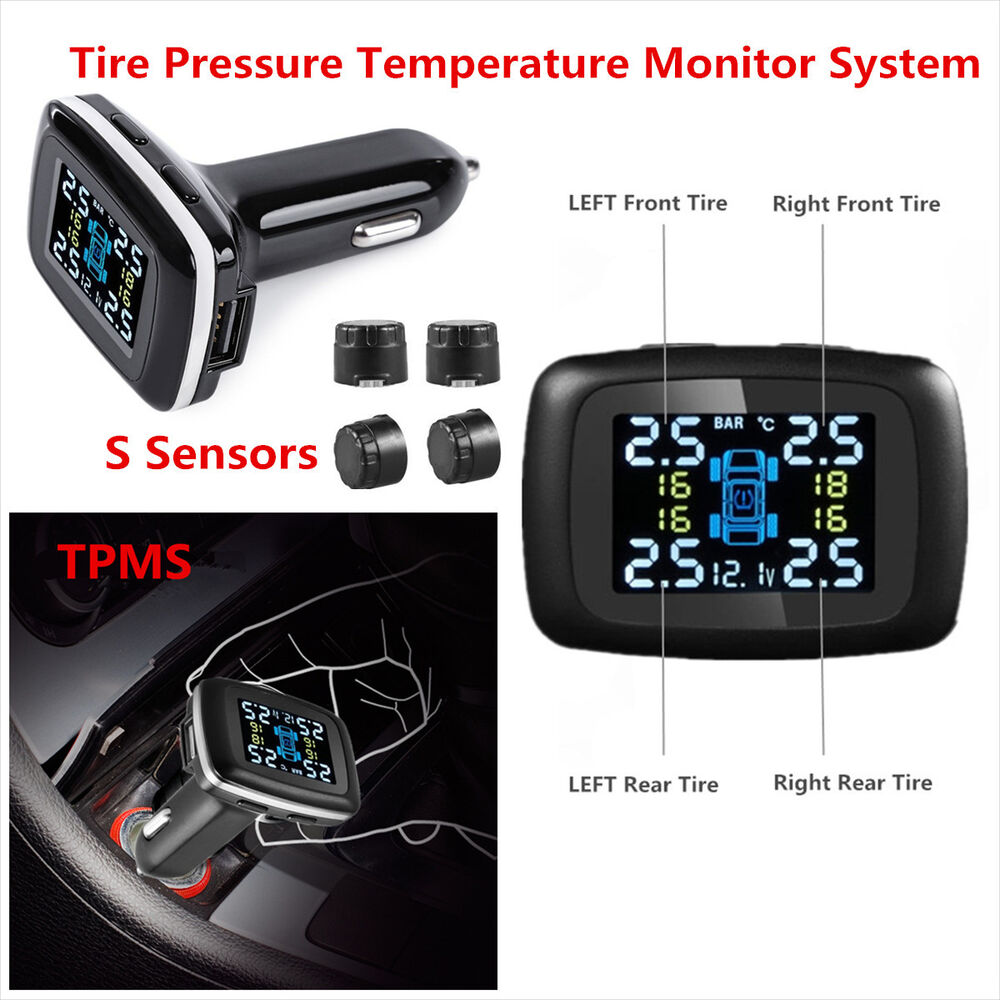 Climate Monitoring System : Car tpms tire tyre pressure temperature monitor system