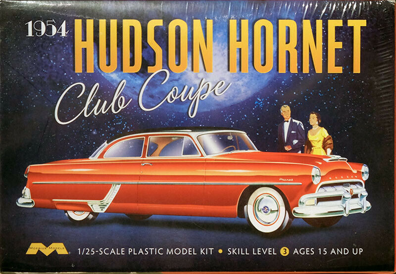 1954 hudson hornet club coupe in 1 25 model kit bausatz. Black Bedroom Furniture Sets. Home Design Ideas