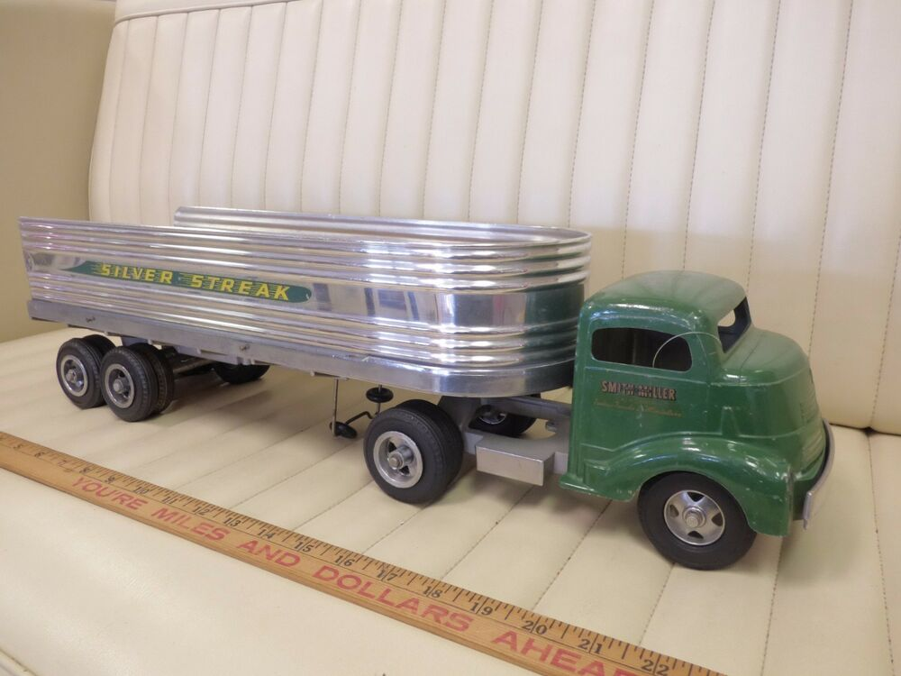 Toy Tractor Trailer Trucks : S smith miller silver streak tractor trailer toy