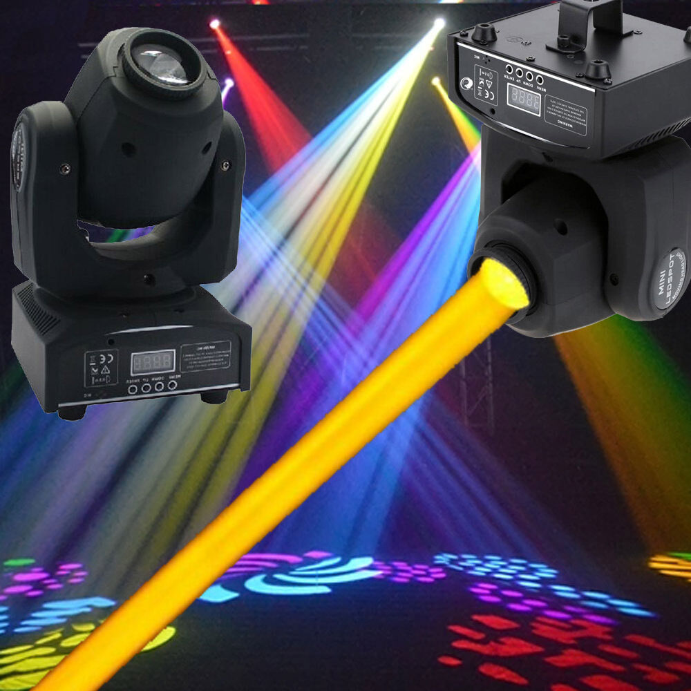 2pcs 30w led moving head light led spot stage lighting dj disco xmas club lamp ebay. Black Bedroom Furniture Sets. Home Design Ideas