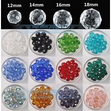 Wholesale Big Crystal Glass Rondelle Faceted Loose Spacer Beads 12/14/16/18mm