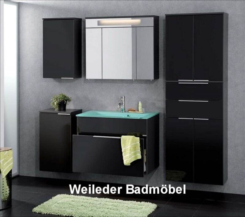 fackelmann kara badm bel waschtisch 80 cm glas w hlbar spiegelschrank 6 tlg 5 ebay. Black Bedroom Furniture Sets. Home Design Ideas