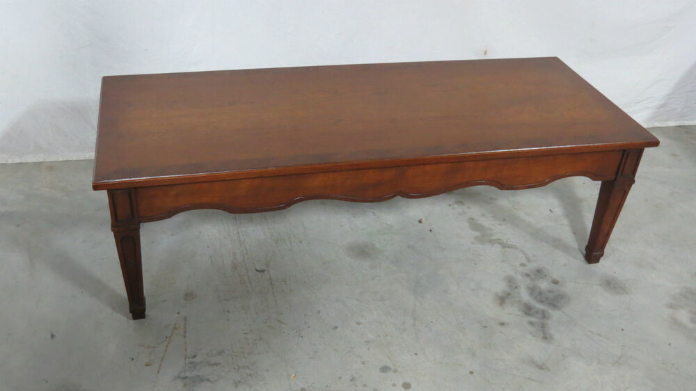 Henredon coffee table designer banded ebay for Coffee tables on ebay