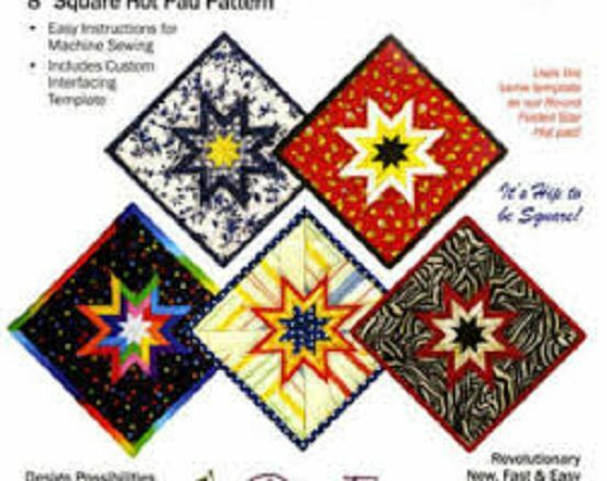 PLUM EASY FOLDED STAR HOT PAD Pattern Crafts Quilting 8
