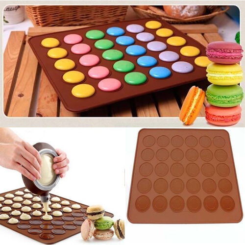 30-cavity Silicone Pastry Muffin Cake Macaron Oven Baking ...