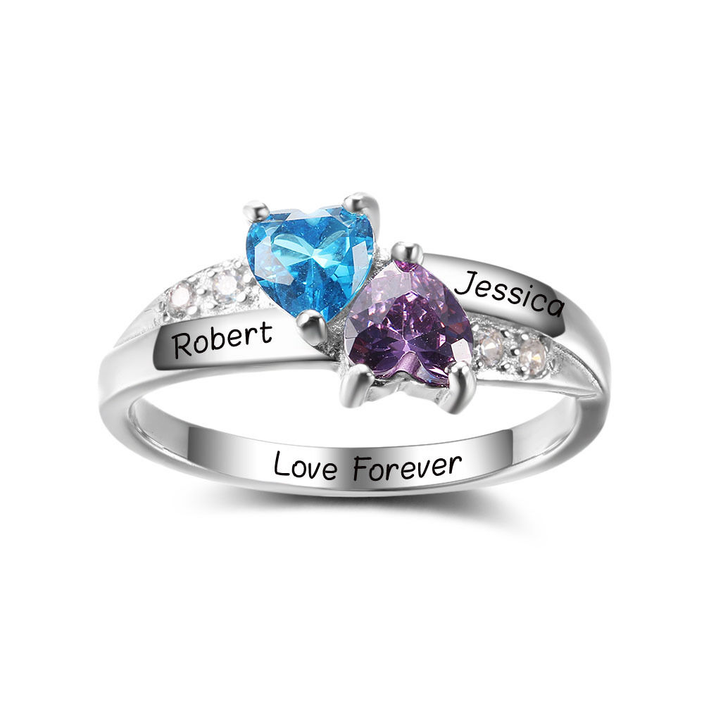 personalized gifts custom 925 silver birthstone ring