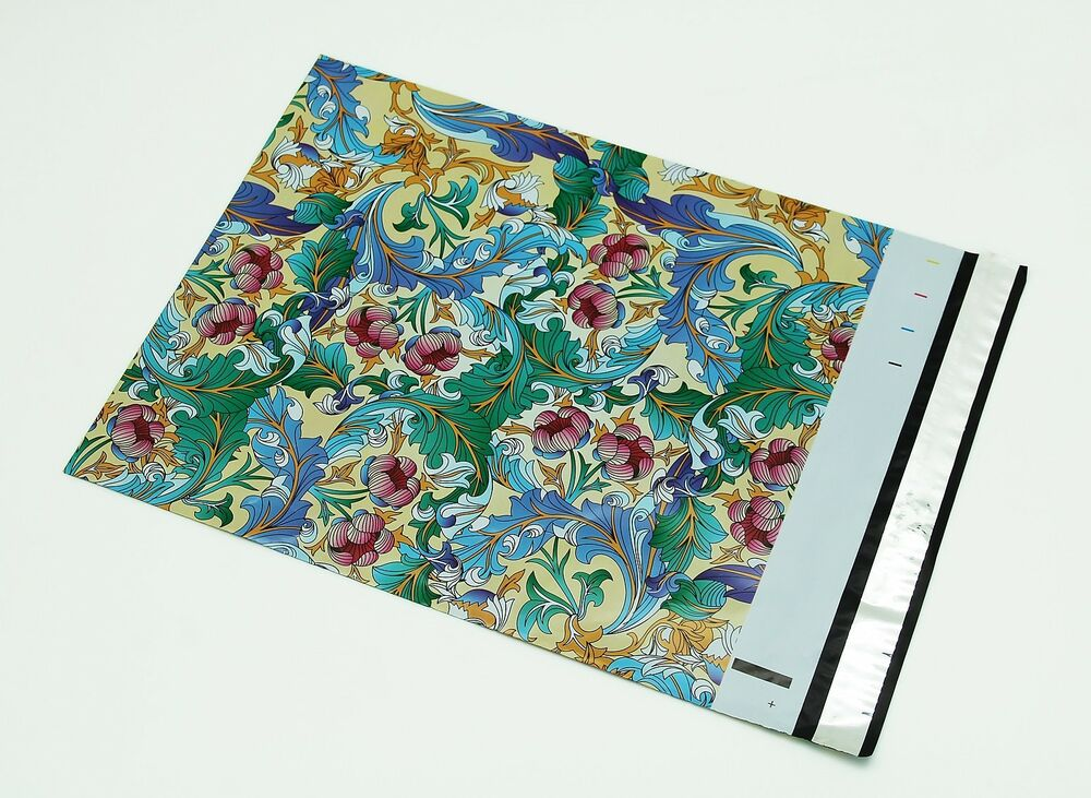 100 145x19 paisley designer poly mailers envelopes for Decorative poly mailers