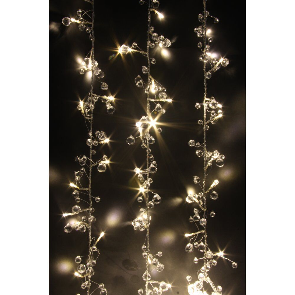 String Lights Mains Operated : CRYSTAL CHIC LED STRING LIGHTS : WARM WHITE LED FAIRY LIGHTS MAINS OPERATED eBay
