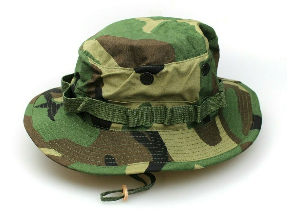 ce728e4523d NEW GENUINE US ISSUE BOONIE HAT JUNGLE WOODLAND CAMO TYPE-III RIPSTOP - USA  MADE