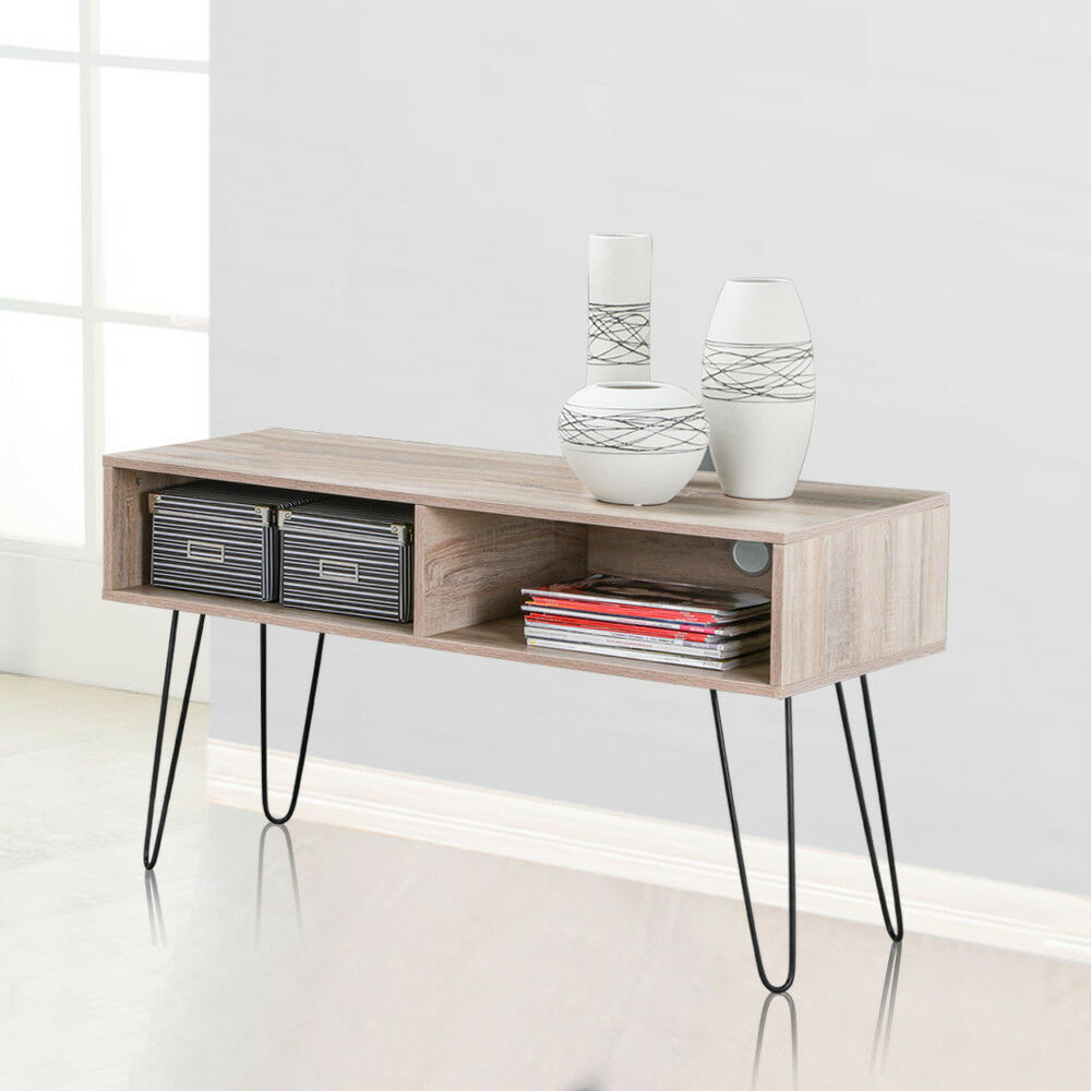 Foyer Storage Console Table : Entryway table wood console furniture sofa storage drawer