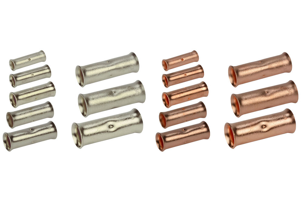 Temco Butt Splice Connector Bare Copper Or Tin Plated