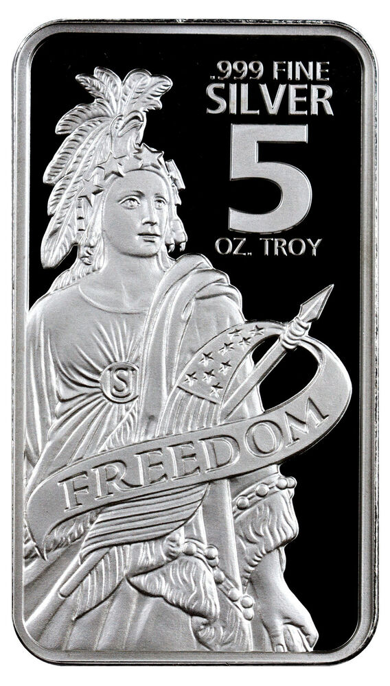Statue Of Freedom 5 Troy Oz 999 Fine Prooflike Silver