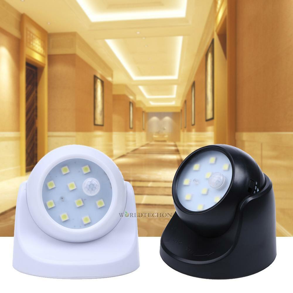 9 led bright auto pir ir motion sensor detector security. Black Bedroom Furniture Sets. Home Design Ideas