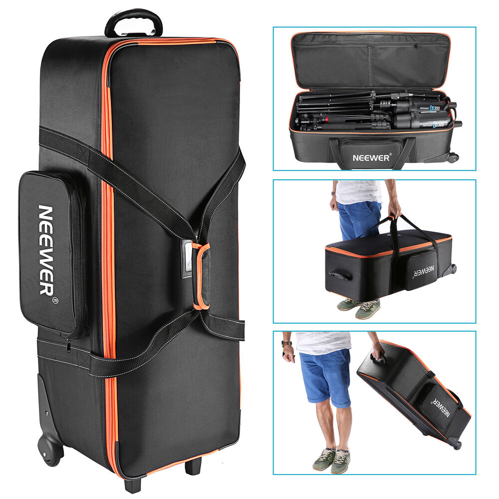 carry equipment bag neewer trolley studio x15 x11 straps accessories stand