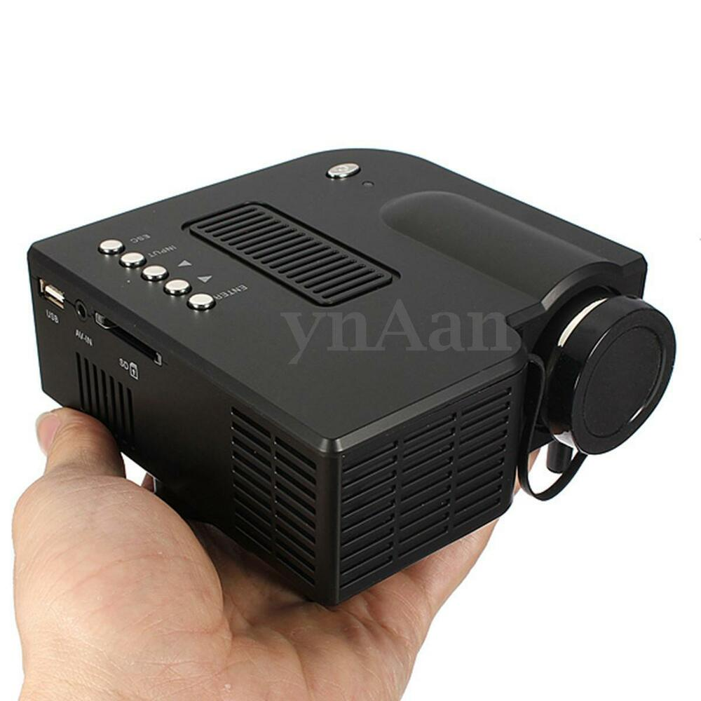 1080p hd led mini projector multimedia home theater cinema av vga sd usb hdmi ebay. Black Bedroom Furniture Sets. Home Design Ideas