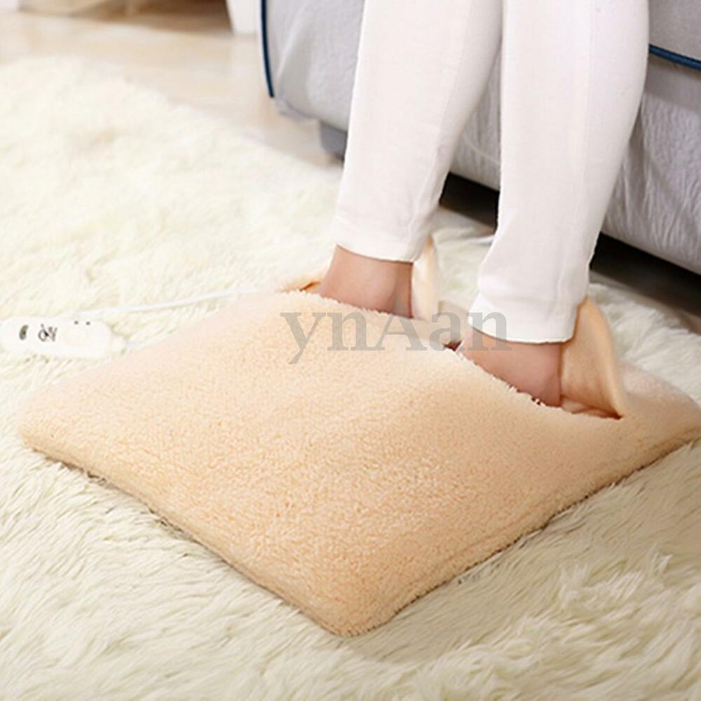 220v Flocking Plush Electric Heated Winter Foot Warmer Pad