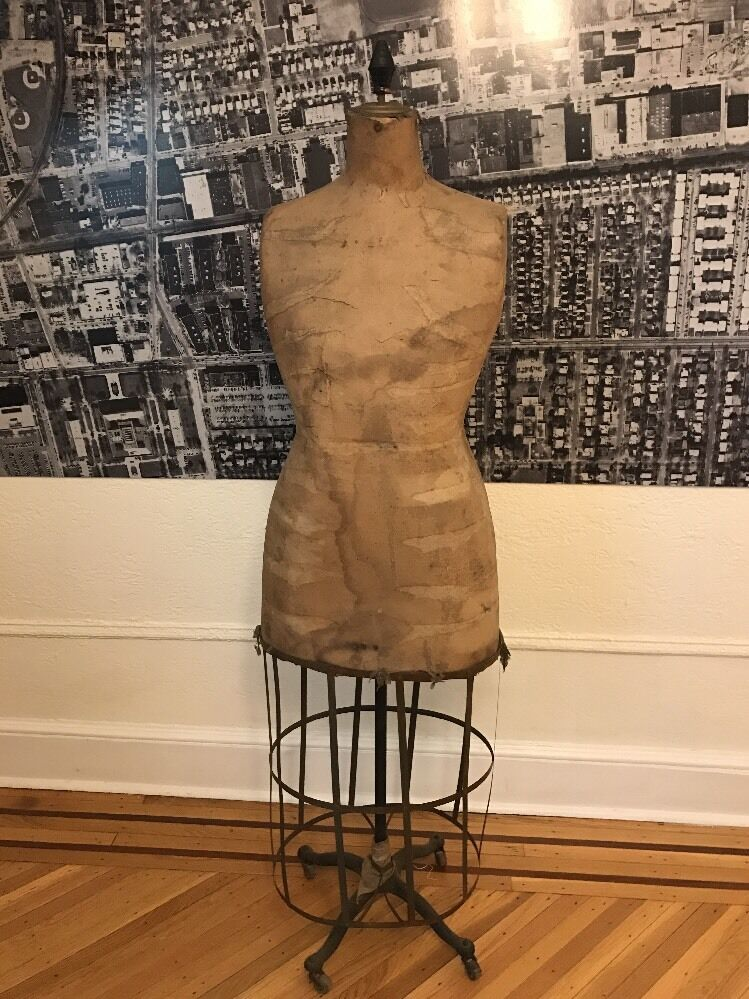 Metal Vintage Dress Form Stand Mannequin Wire Sewing