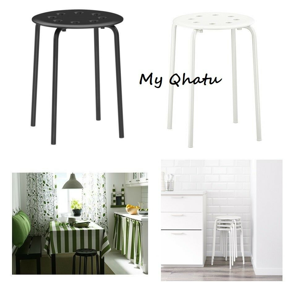 Ikea Stool Marius Stackable Kitchen Breakfast Bar Dining