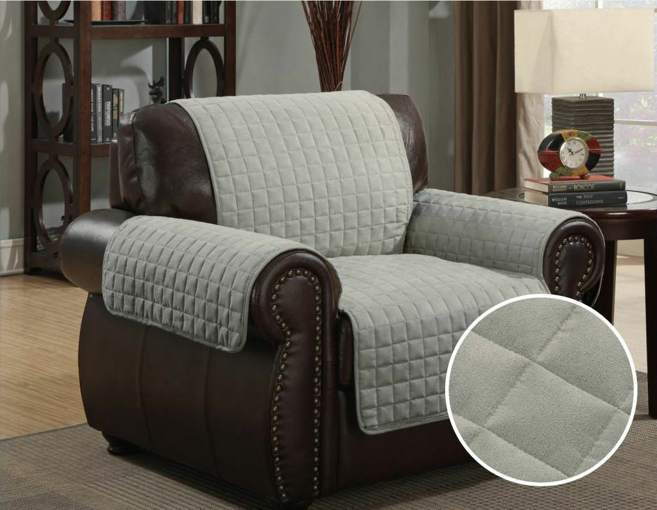 new quilted microfiber sofa cover chair throw pet dog kids furniture protector ebay. Black Bedroom Furniture Sets. Home Design Ideas