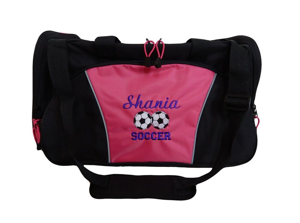 personalized duffel bag large duo soccer balls sports team