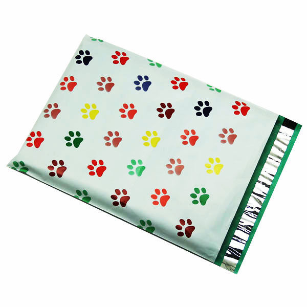 100 10x13 puppy paws designer poly mailers envelopes