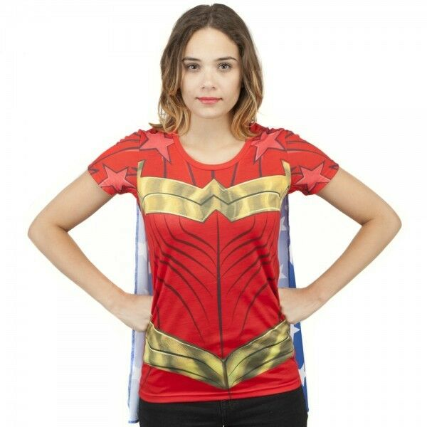 Wonder woman sublimated costume cosplay juniors t shirt s for Wonder woman book shirt