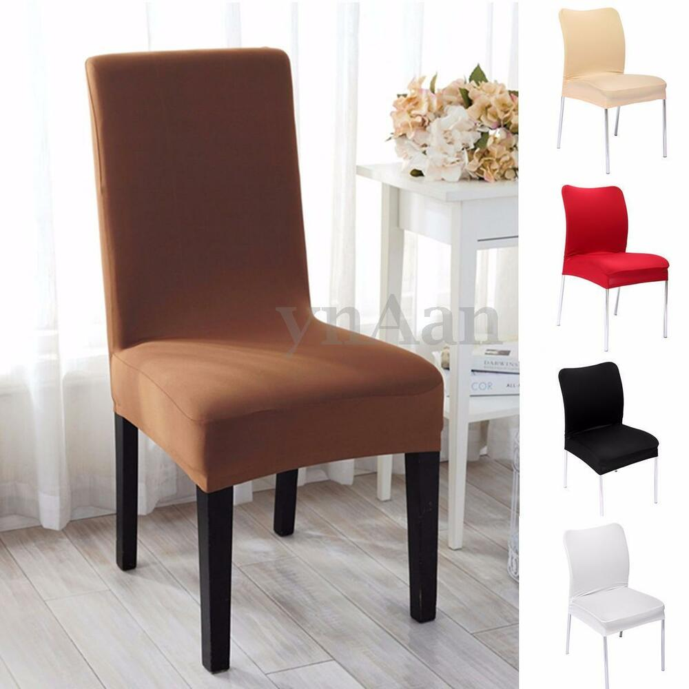 removable elastic stretch slipcovers dining room chair seat cover