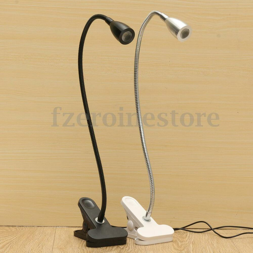 Flexible USB LED Clip-on Clamp Night Light Bedside Table ...