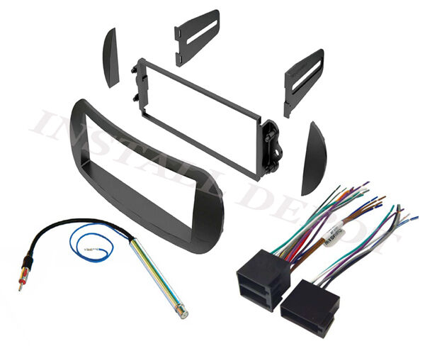 Volkswagen Wiring Harness Stereo : Vw bug beetle complete car stereo radio install dash kit