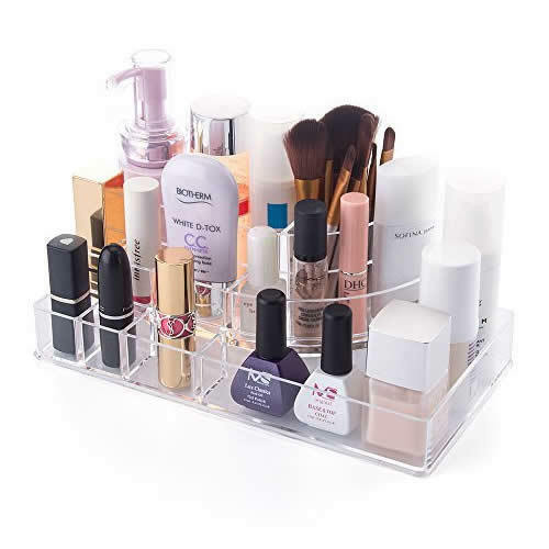Clear Acrylic Cosmetic Organiser Makeup Lipstick Jewelry