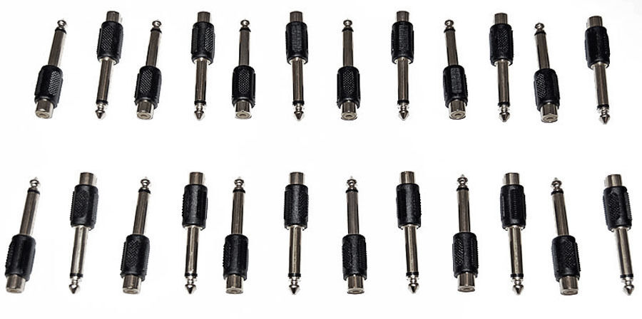 24x rca female jack to 1  4 u0026quot  male phone plug audio adapter