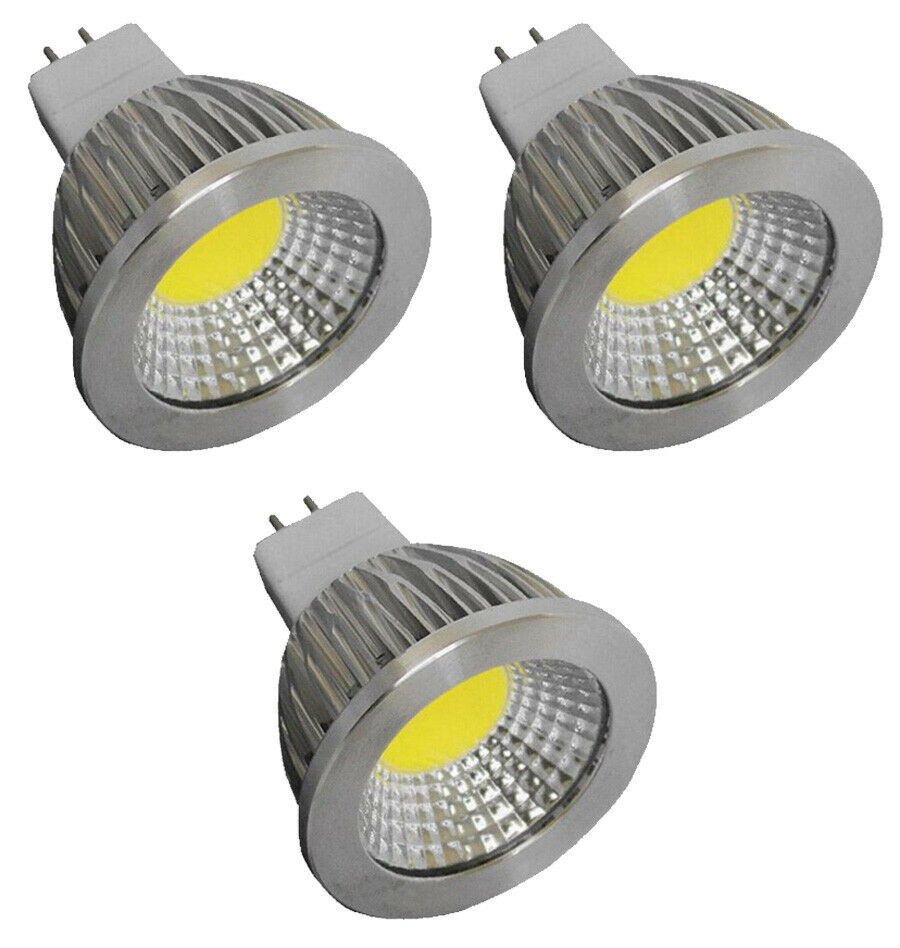 3pcs mr16 3 watt led cool white 5000k bi pin g5 3 base light bulb 12vac 12vdc g4 ebay. Black Bedroom Furniture Sets. Home Design Ideas