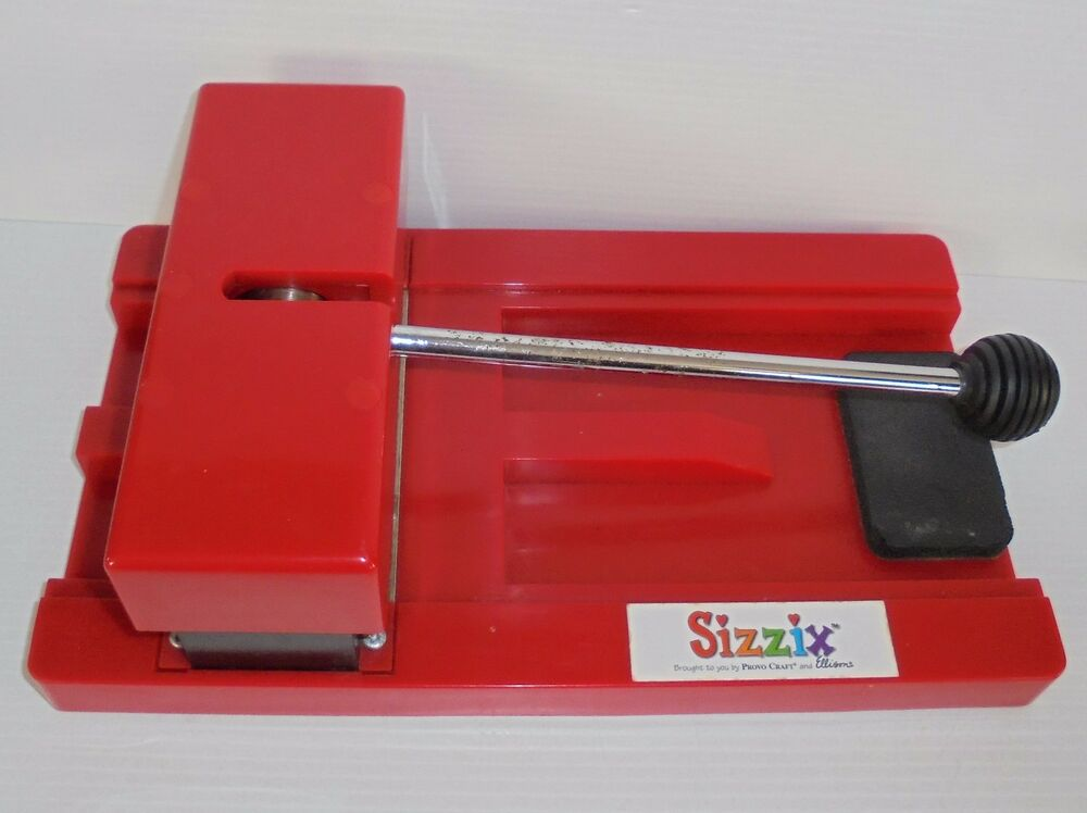 Sizzix personal die cut cutter original provo craft red for Craft die cutting machine